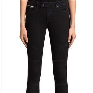 All Saint Biker Cropped Jeans